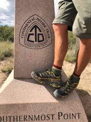 """In 2018, Jacob Gilliland hiked the Continental Divide Trail, a 3,100 mile trek from Waterton Lake, Glacier National Park, Montana at the U.S.ÐCanada border to the Crazy Cook Monument, Big Hatchet Mountains, New Mexico at the U.S.ÐMexico border. It was the third and final trail of the """"Triple Crown of hiking."""