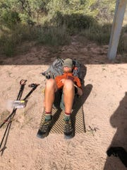 "Jacob Gilliland takes a well deserved nap after completing the Continental Divide Trail and the ""Triple Crown"" of hiking. He had traversed around 8,000 miles of trail in his journey."