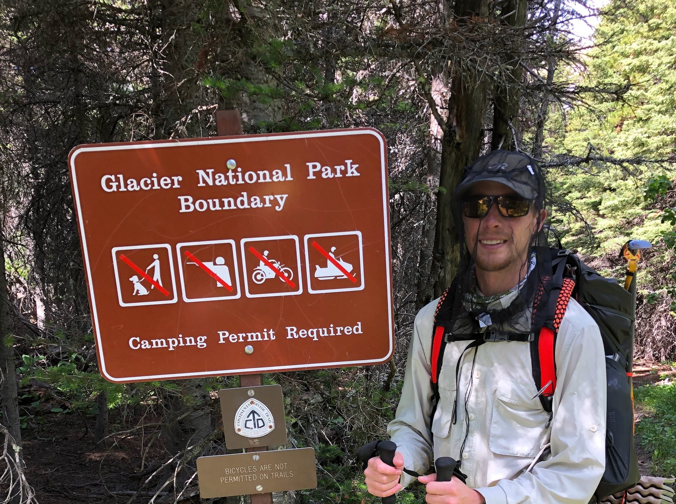 "In 2018, Jacob Gilliland hiked the Continental Divide Trail, a 3,100 mile trek from Waterton Lake, Glacier National Park, Montana at the U.S.ÐCanada border to the Crazy Cook Monument, Big Hatchet Mountains, New Mexico at the U.S.ÐMexico border. It was the third and final trail of the ""Triple Crown of hiking."