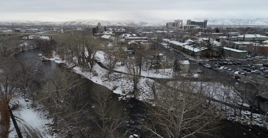 Truckee River Snow