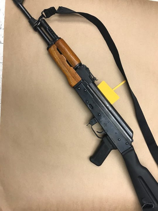 A photo of the assault rifle South Lake Tahoe police found in Victor Alfonso Ramos Eucendo's pickup truck.