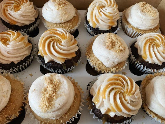Gigglebox Sweets & Treats features gourmet cupcakes.