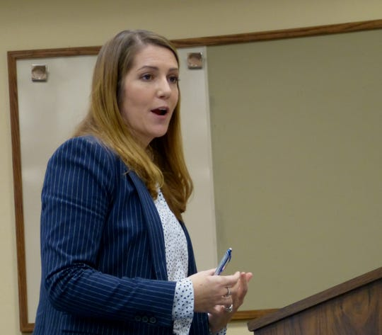 Shasta County prosecutor Patrica Van Ert delivers closing arguments Wednesday in the murder retrial of Juan Venegas.
