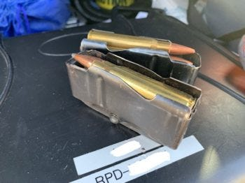 This picture shows the stolen ammunition officers say they found on David Shankles New Year's Day in downtown Redding. Shankles allegedly admitted to stealing it and other items from unlocked cars, mostly to afford heroin.