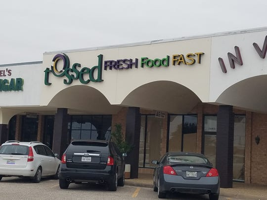 Tossed, a Florida based restaurant chain, will open it's first Texas location at 2005 Knickerbocker Road, San Angelo. This photo was taken on Dec. 29, 2018.