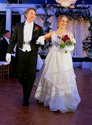 Jarrod W. Horton presents his daughter Allyson M. Horton at the Debutante Ball.