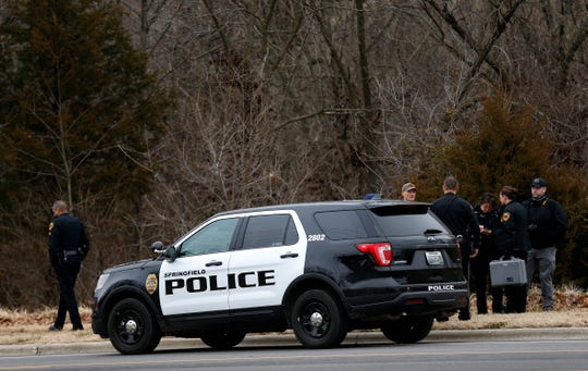 Springfield Police investigate skeletal remains found off of North Farm Road 151 on Wednesday, January 2, 2019.