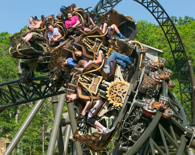 The Time Traveler roller coaster, shown here on May 26, 2018, is one reason Silver Dollar City officials believe they had record-breaking attendance in 2018.