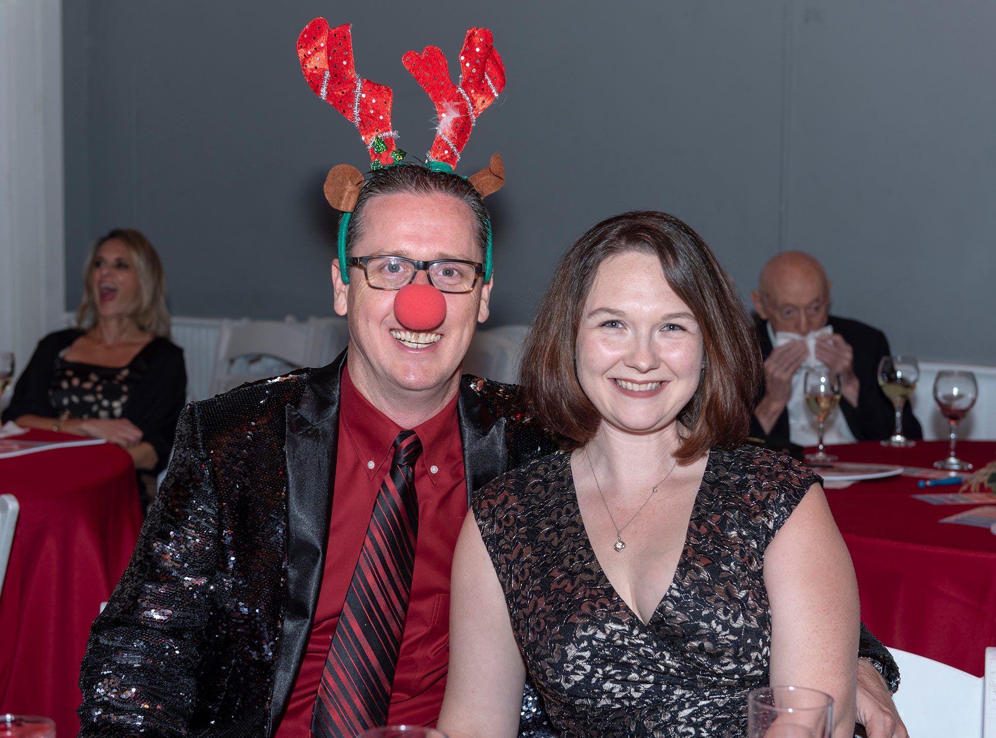 Brian and Laura Moriarty at the Tykes & Teens Festival of Trees & Lights.
