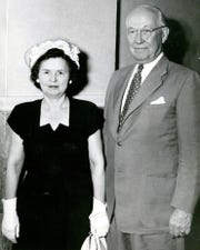 U.S. Rep. R.E. Thomason and Mrs. Thomason are shown at the Hotel Paso del Norte after the congressman returned to El Paso in August 1946.