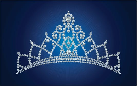 Diamond Tiara Bridal Princess Or Beauty Queen Vector Illustrations Layers Are Separated