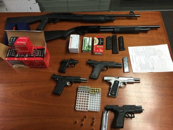 Tulare County detectives took 15 guns off the street during a four-day detail.