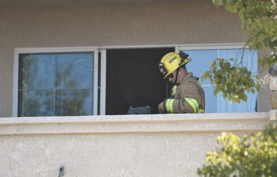 Visalia firefighters were called to Best Western Visalia Hotel, located at 9300 W. Airport Drive, with reports of a fire on an upper floor.