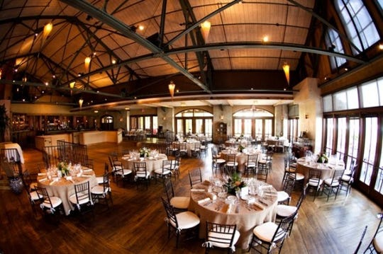 The dining room at Harvest on Hudson in Hastings. The restaurant celebrated its 20th anniversary in May, 2018.