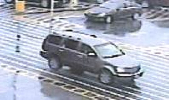 Police are looking for the man driving this Chrysler Aspen at the Elkton Walmart on New Year's Eve.