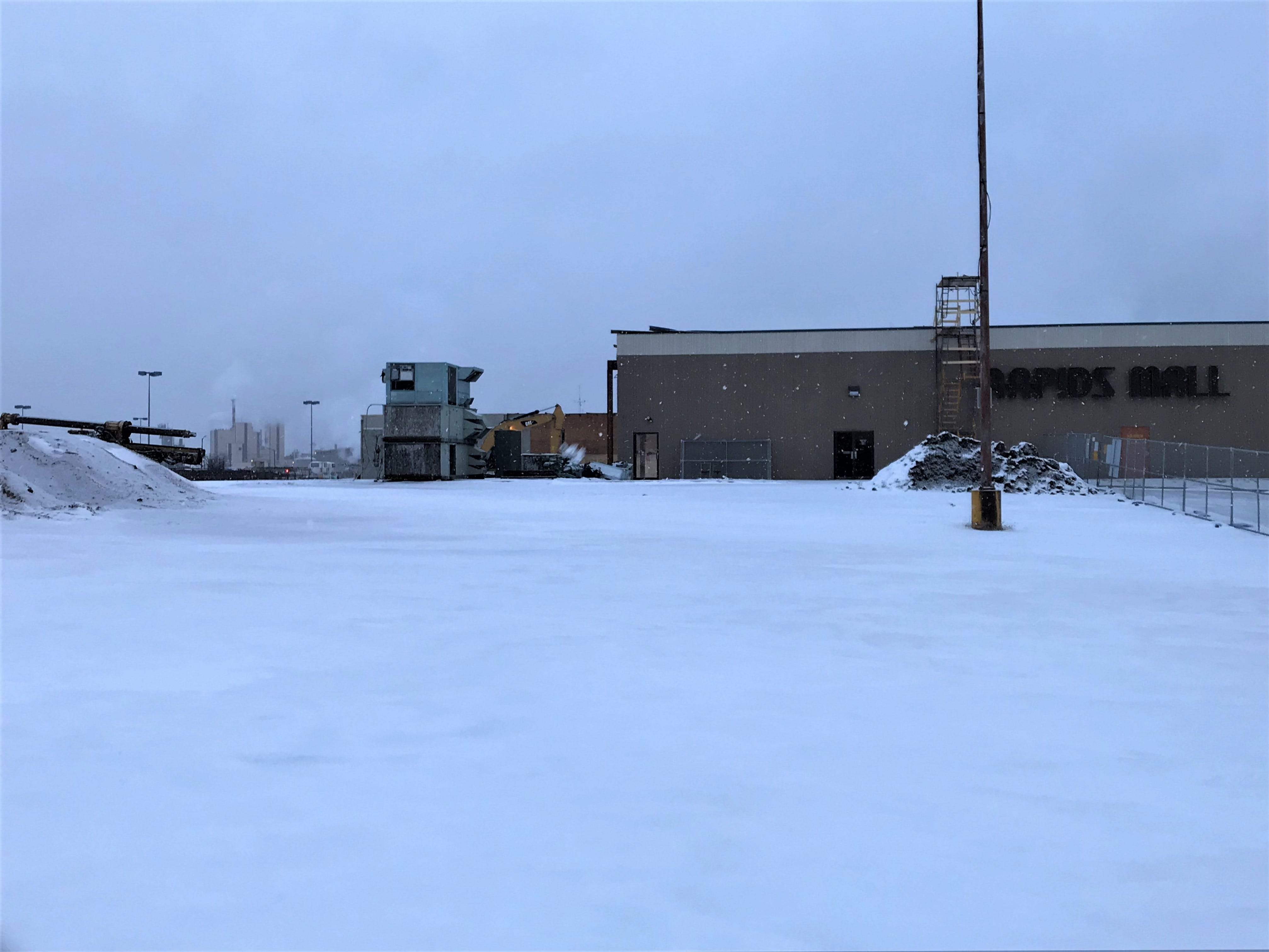 The Younkers space at the former Rapids Mall site has been torn down. The space will be part of the new South Wood County YMCA and Boys & Girls Club in Wisconsin Rapids. Photo taken Jan. 2, 2019.