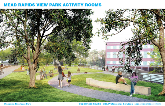 A rendering of the plans for Mead Rapids View Park.