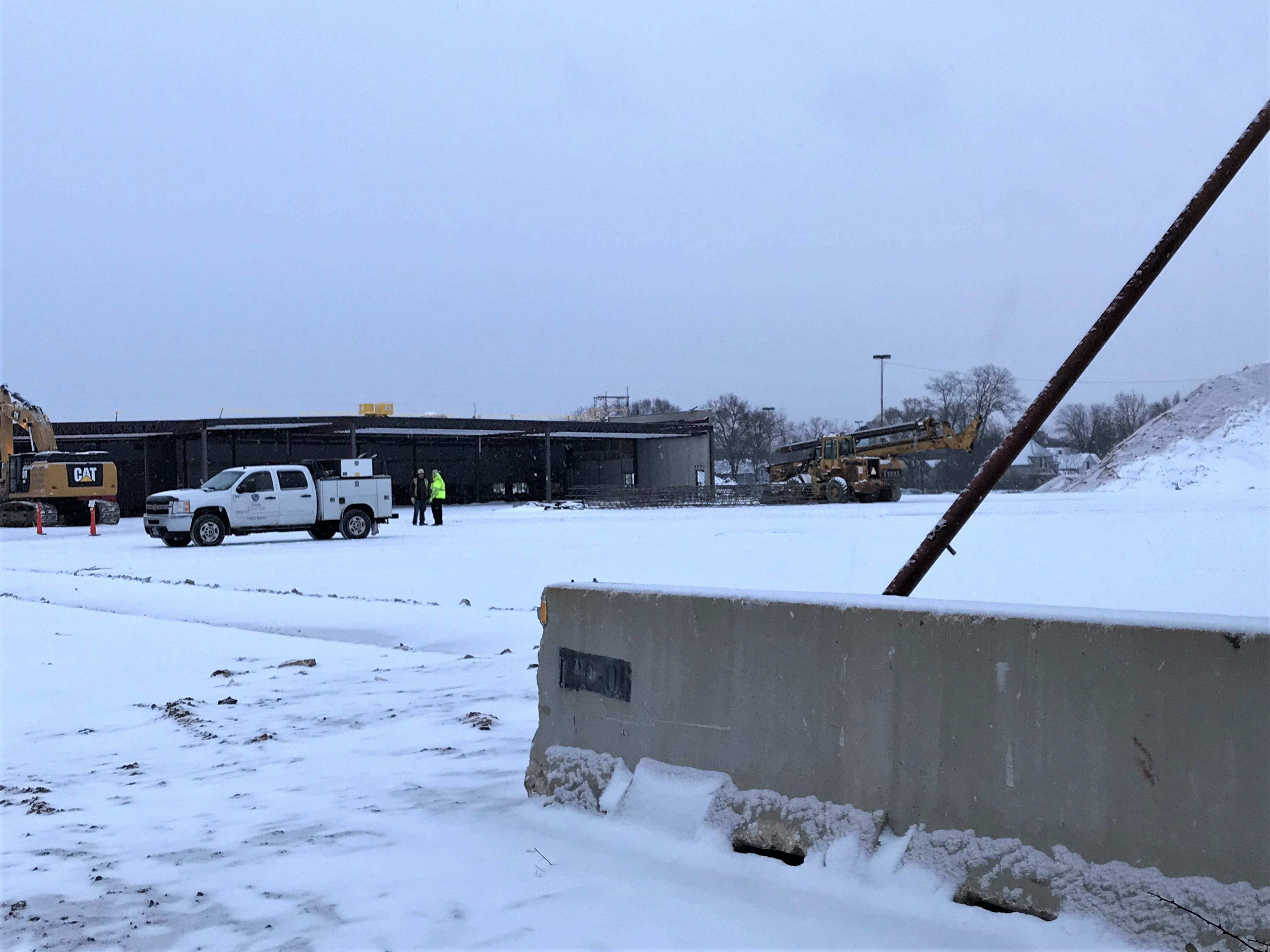 Crews work at the site of the former Rapids Mall ahead of the construction of the new South Wood County YMCA and Boys & Girls Club in Wisconsin Rapids. Photo taken Jan. 2, 2019.