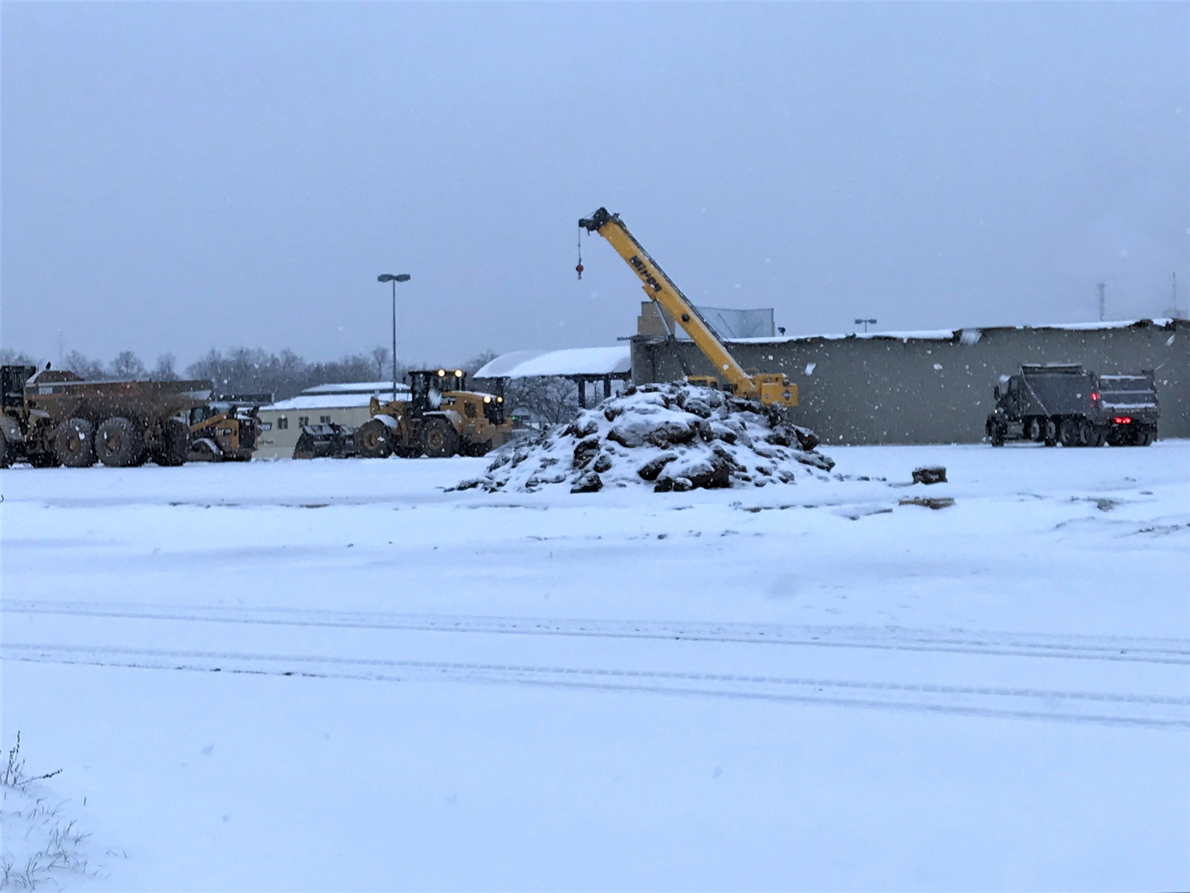 Crews work near the former Younkers site at the Rapids Mall. The space will be part of the new YMCA and Boys & Girls Club in Wisconsin Rapids. Photo taken Jan. 2, 2019.
