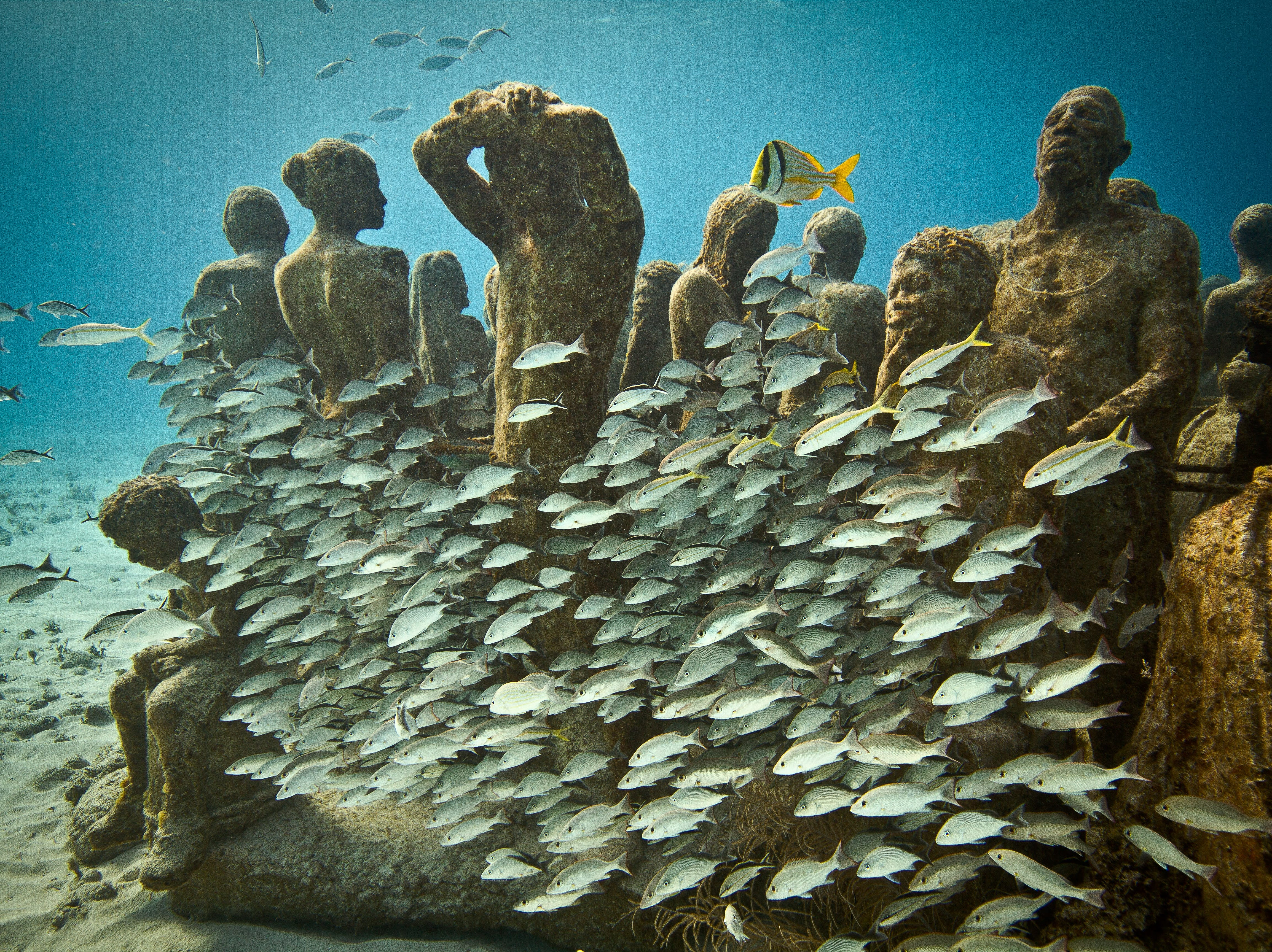 This is the Underwater Museum in Cancun, one of Travelzoo's top destinations for January.