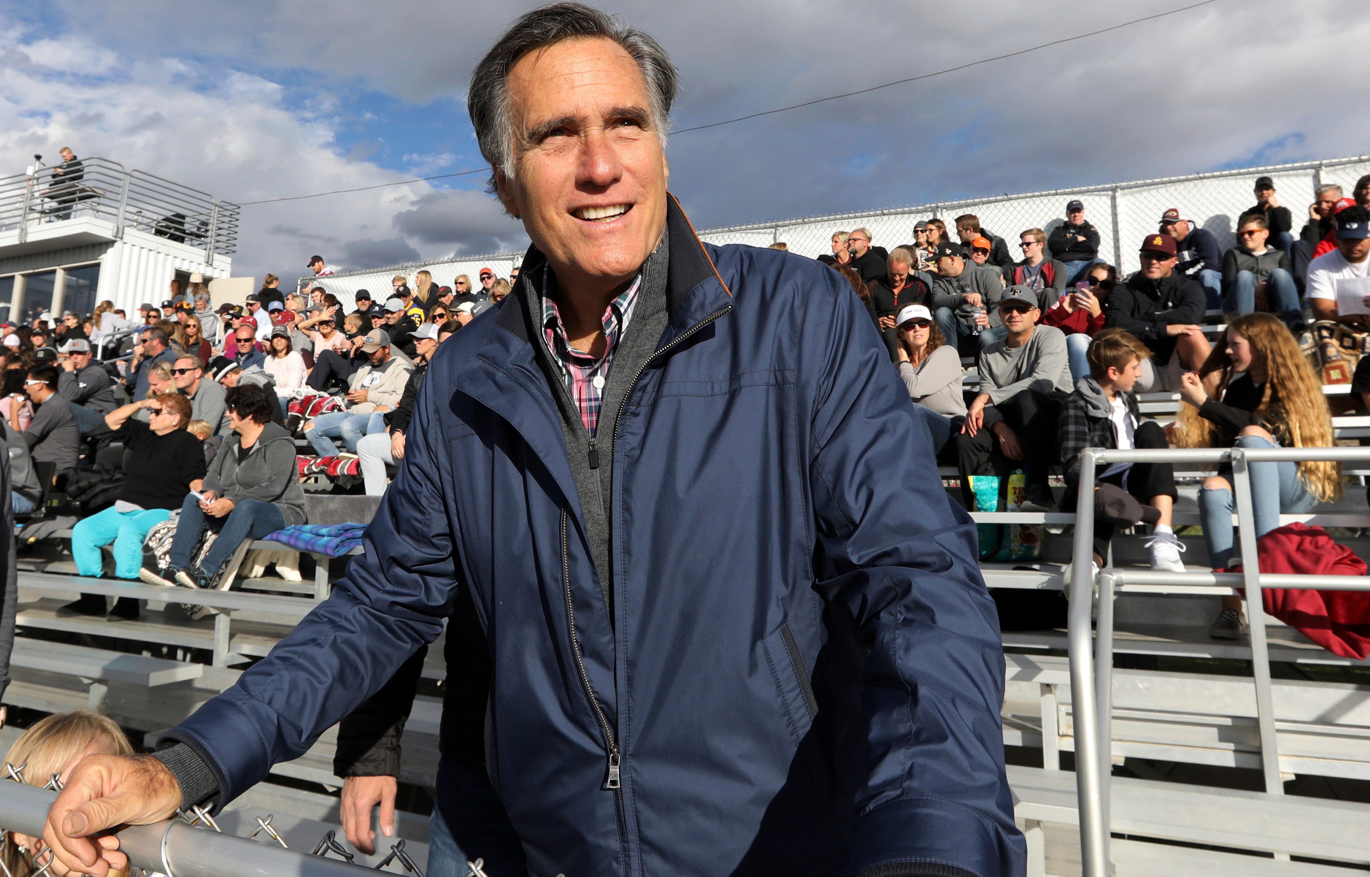 Mitt Romney Utah Football Game Profile Image
