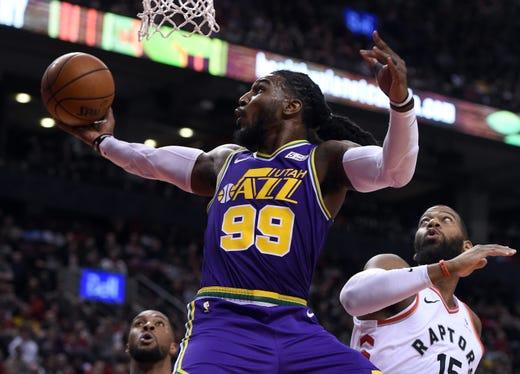 Jan. 1  Utah Jazz forward Jae Crowder shoots for a basket past Toronto  Raptors 8cfc059ed