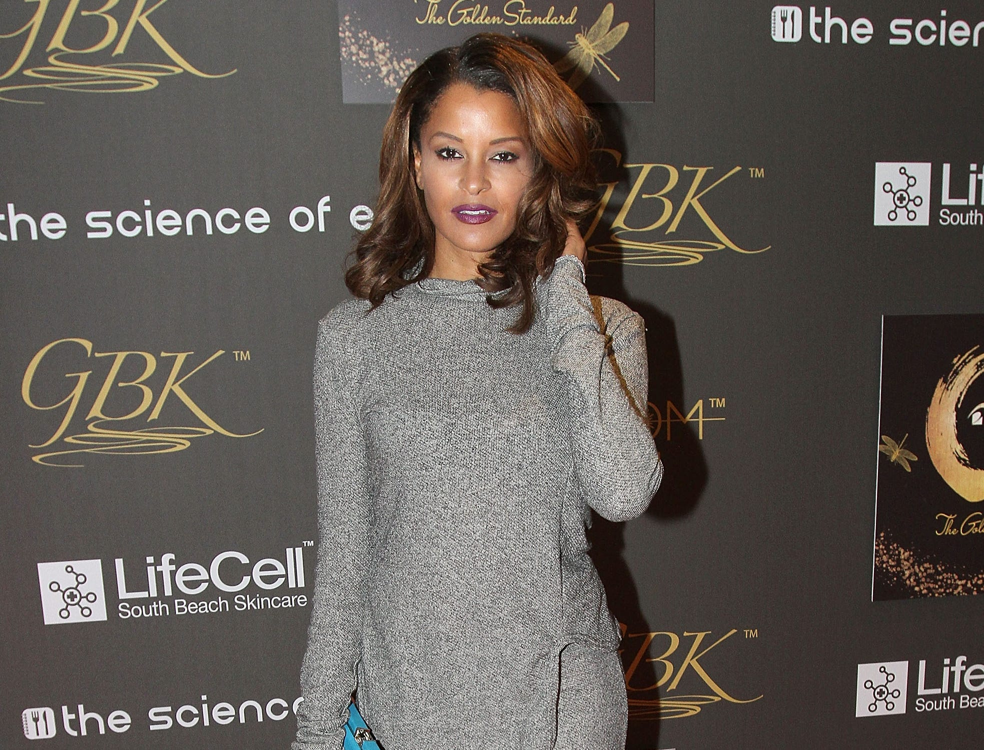 HOLLYWOOD, CA - JANUARY 09:  Claudia Jordan attends GBK & Pilot Pen Golden Globes 2016 Luxury Lounge - Day 2 at W Hollywood on January 9, 2016 in Hollywood, California.  (Photo by Maury Phillips/Getty Images for GBK Productions) ORG XMIT: 598653753 ORIG FILE ID: 504265774