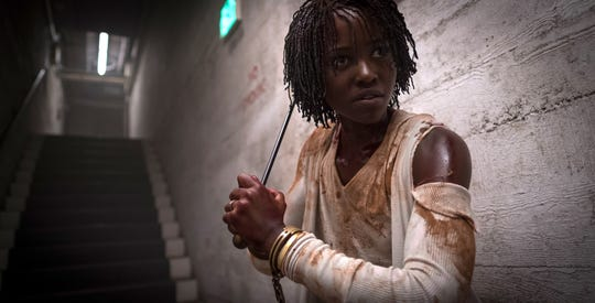 "Lupita Nyong'o stars as a mom whose family faces off with their evil doppelgangers in Jordan Peele's horror film ""Us."""