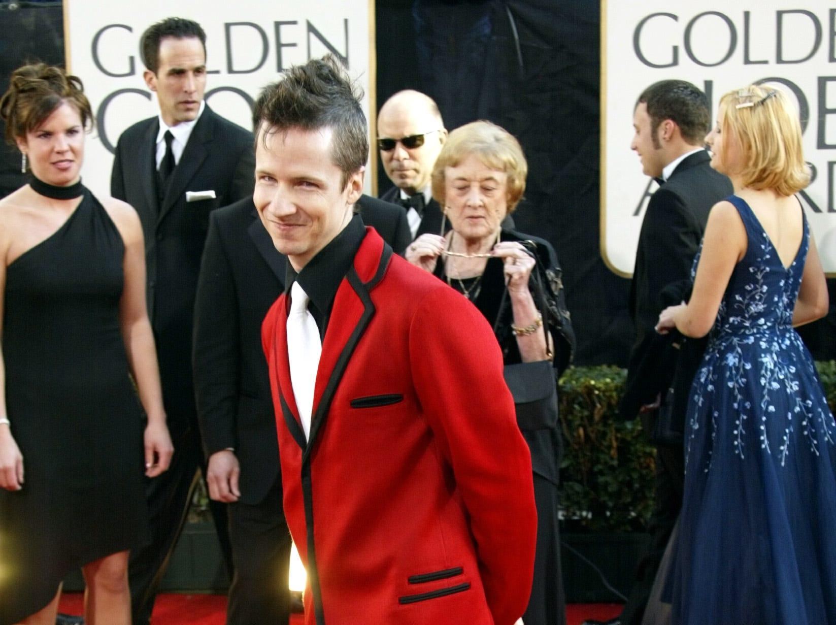 January 20, 2002 - Los Angeles, CA -- Golden Globe Awards --    JOhn Cameron Mitchell arrives at the 59th annual Golden Globe Awards.