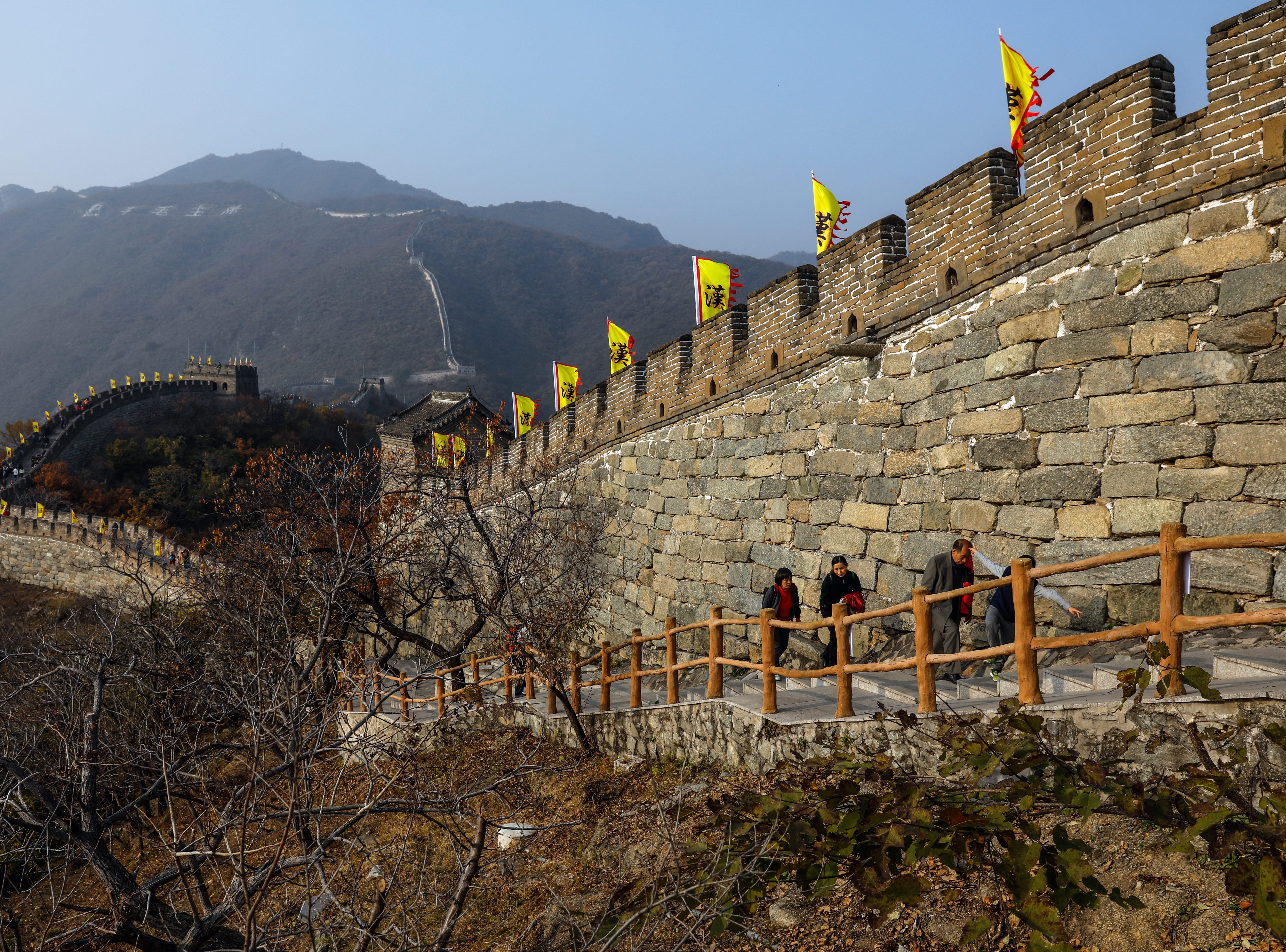 Beijing is one of Travelzoo's top picks for travel in January, with one-way flights from Los Angeles at $327. Tourists visit the Mutianyu Great Wall in Beijing.