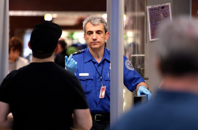 A Transportation Security Administration officer