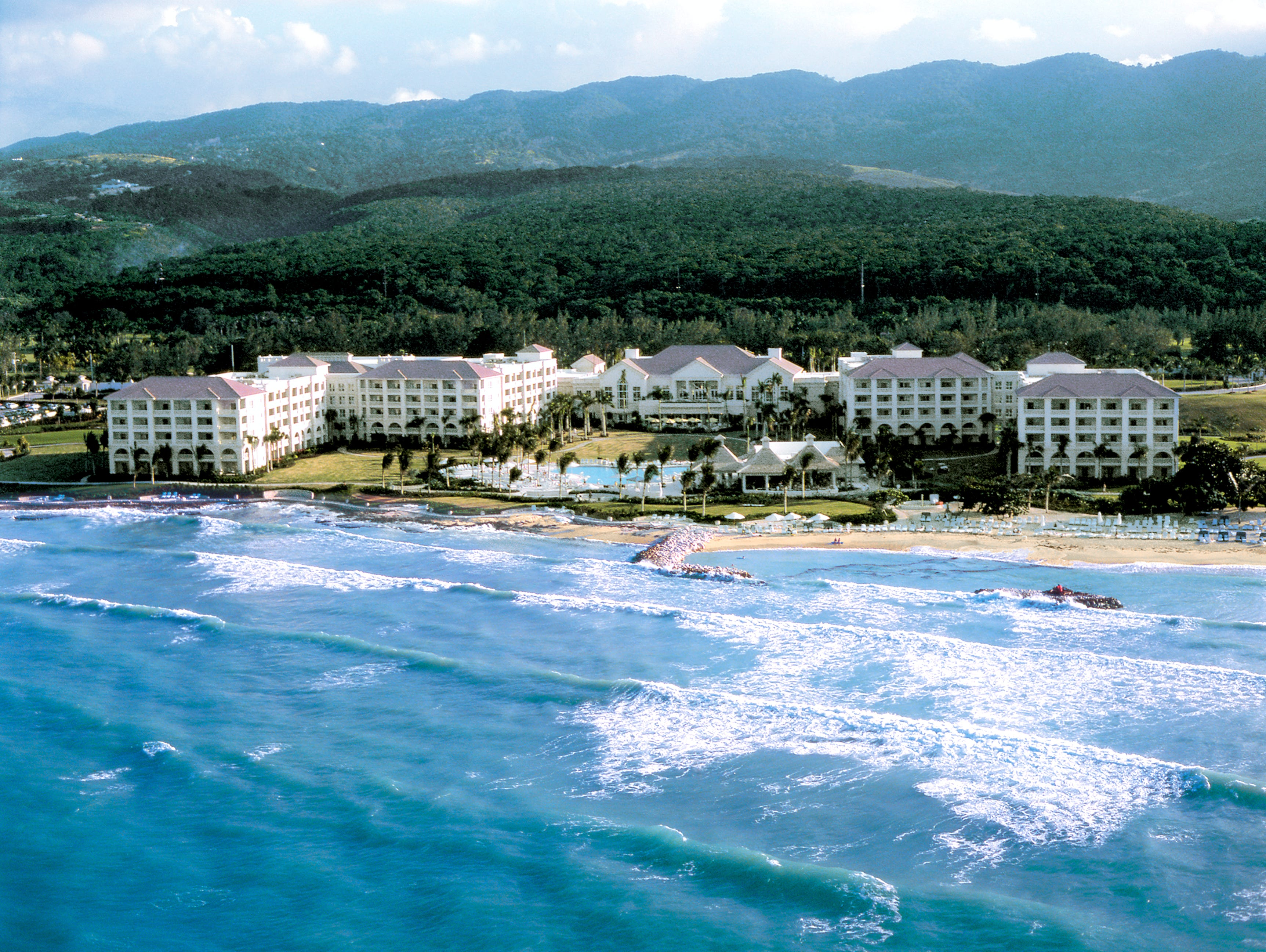 Montego Bay, Jamaica, is an affordable destination for January, according to Travelzoo. This is The Ritz-Carlton Golf & Spa Resort, Rose Hall.