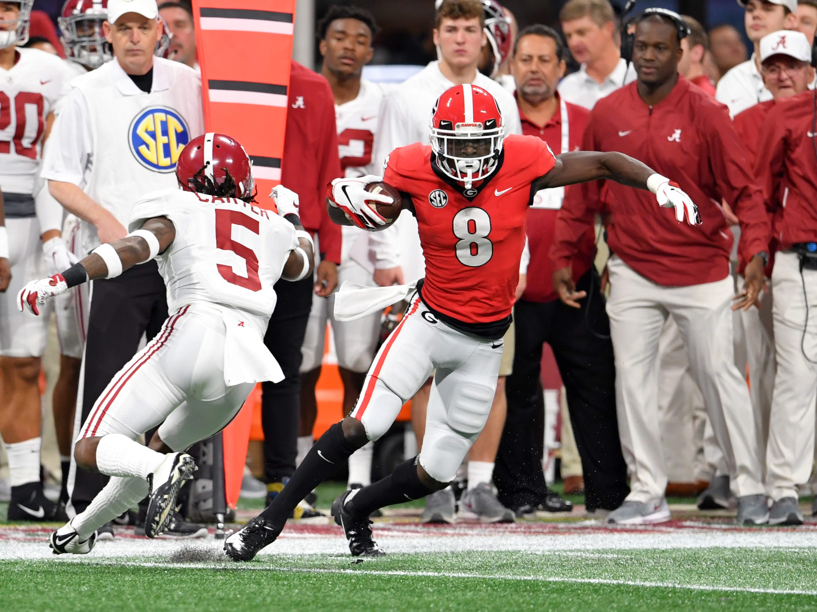 28. Raiders (via Bears) — Riley Ridley, WR, Georgia