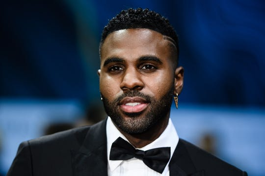 Jason Derulo arrives for the GQ Men of the Year 2018 awards show in Berlin, Nov. 8, 2018.