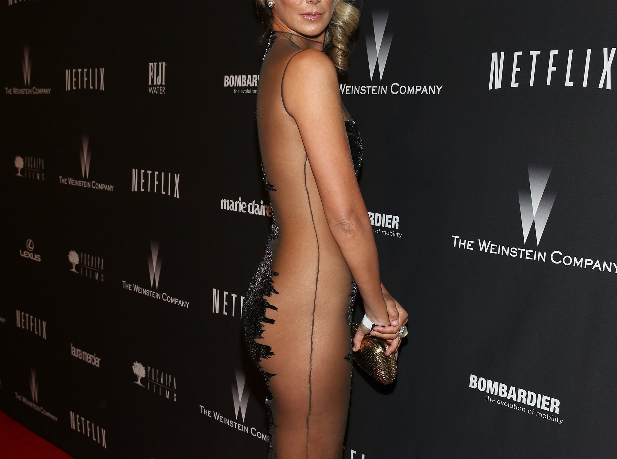 BEVERLY HILLS, CA - JANUARY 12: Model Lady Victoria Hervey attends The Weinstein Company & Netflix's 2014 Golden Globes After Party presented by Bombardier, FIJI Water, Lexus, Laura Mercier, Marie Claire and Yucaipa Films at The Beverly Hilton Hotel on January 12, 2014 in Beverly Hills, California.  (Photo by Imeh Akpanudosen/Getty Images for The Weinstein Company) ORG XMIT: 455277673 ORIG FILE ID: 462234589