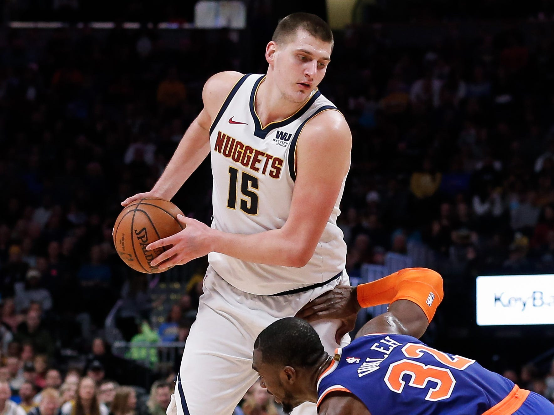 40. Nikola Jokic, Nuggets (Jan. 1): 19 points, 14 rebounds, 15 assists in 115-108 win over Knicks (third of season).