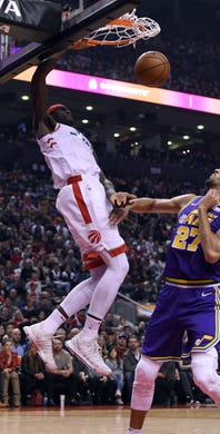 393169b9d6f Jan. 1  Toronto Raptors forward Pascal Siakam dunks against Utah Jazz in  the first