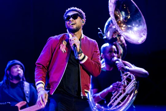 Usher performs at the Openair Frauenfeld Music Festival in Frauenfeld, Switzerland, July 2017.