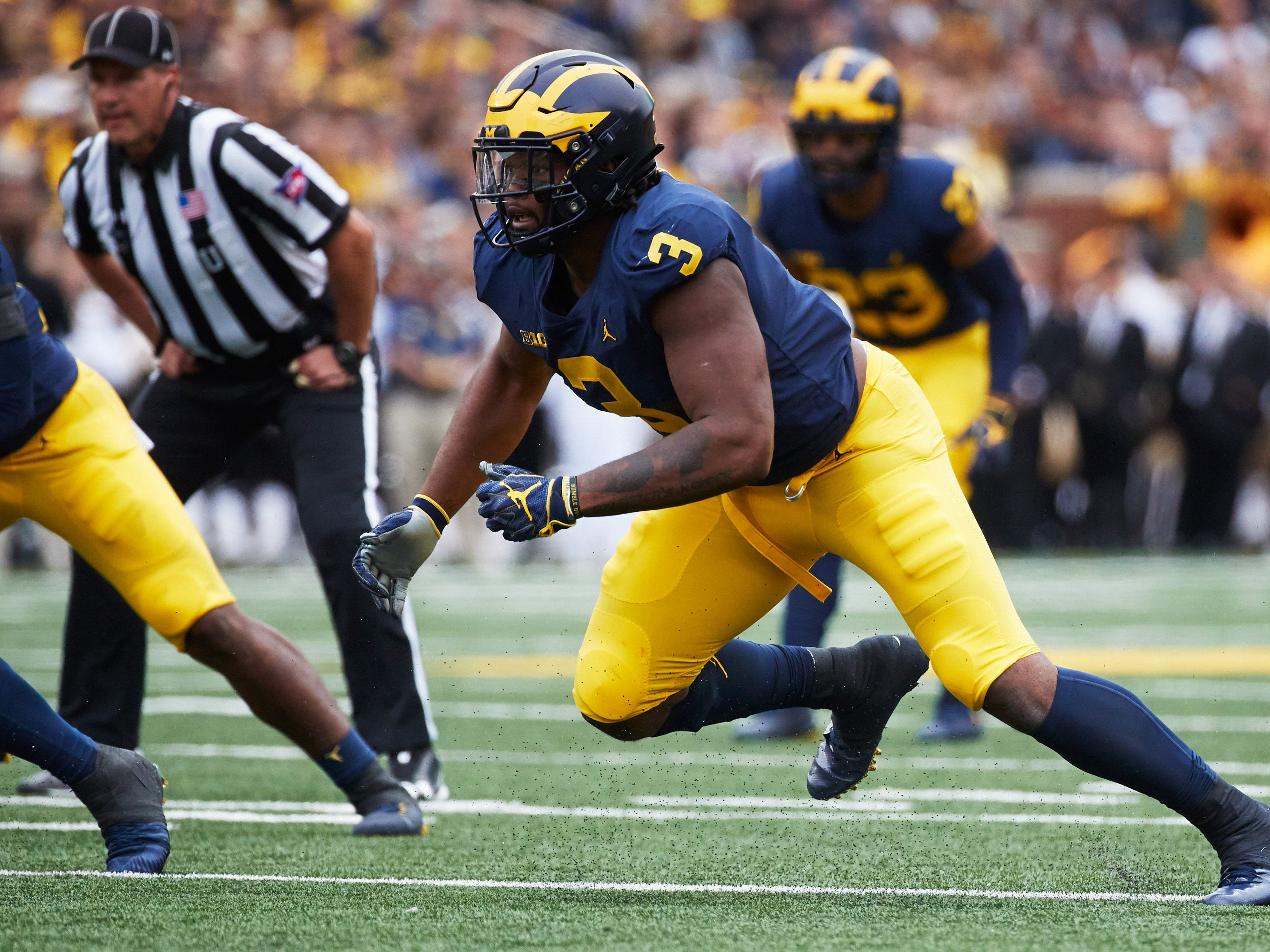 14. Falcons — Rashan Gary, DE, Michigan