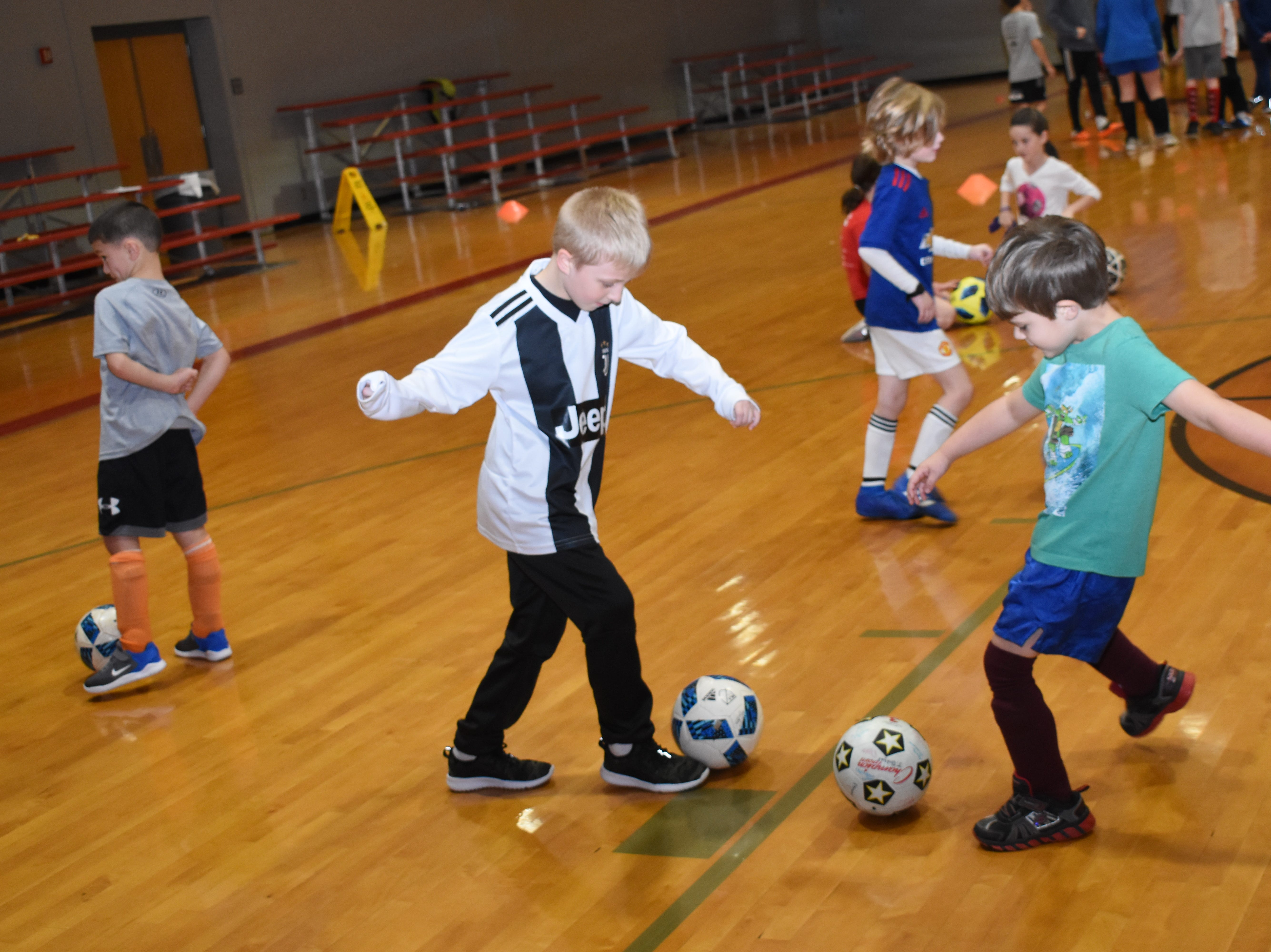 """Pineville High School seniors and soccer players Brandon Cespiva and Ridah Alkaabi host a kids' soccer clinic as their senior project. """"It's kids 'K' through eight,"""" said Cespiva. """"And we're mainly just going to have fun, learn the game and just see smilies on kids' faces."""" The two-day camp has over 75 participants.His brother Brian Cespiva hosted a kids' camp for baseball as his senior project. """"I worked at his just to get a feel because I knew when my time came, I'd be doing the same thing for kids,"""" said Cespiva."""