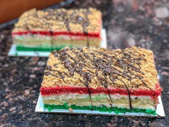 Rainbow cookies with cannoli cream are a specialty at Alfonso's Pastry Shoppe, a 59-year-old Staten Island bakery opening soon in Red Bank.