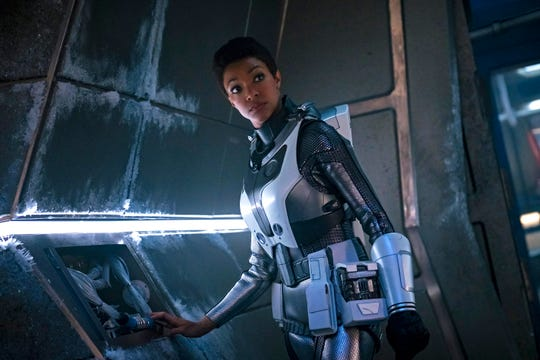"""""""Brother"""" -- Episode 201-- Pictured: Sonequa Martin-Green as Burnham of the CBS All Access series STAR TREK: DISCOVERY."""