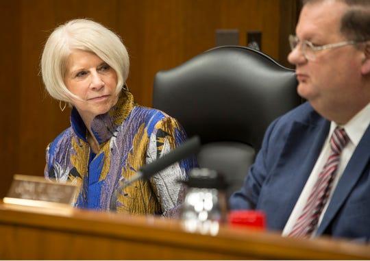 Ocean County Freeholder Director Virginia E. Haines and Deputy Freeholder Director Jack Kelly.