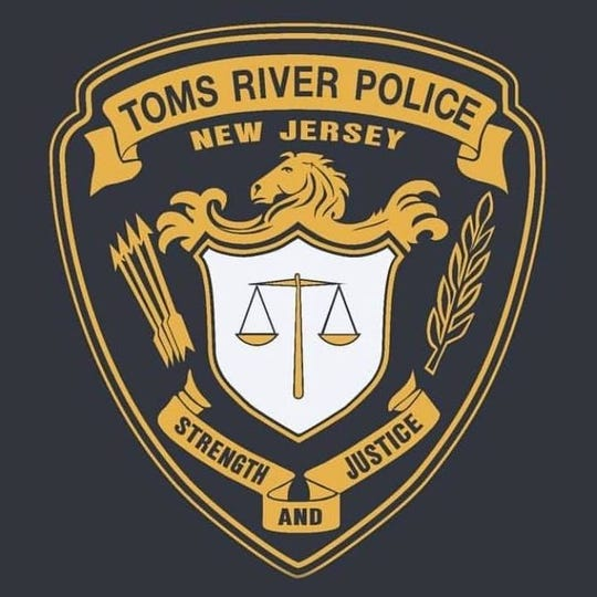 Toms River Police Department emblem.