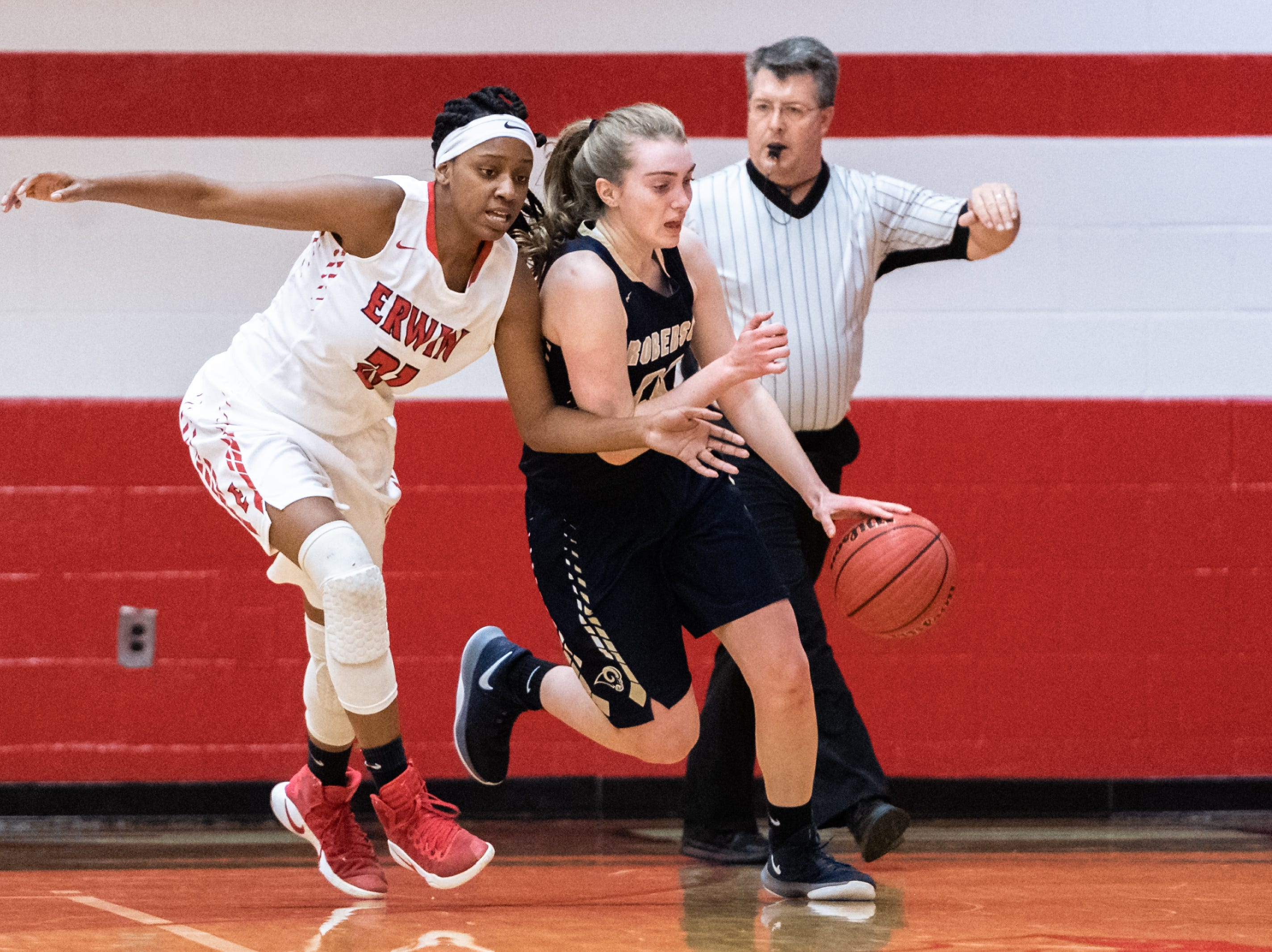 Erwin High School girls basketball hosted Roberson for their game Jan. 2, 2018.