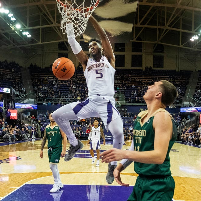 Jaylen Nowell's Washington Huskies trailed in the first half against Sacramento State before rallying to win comfortably. The Huskies know they'll need to start faster when Pac-12 play starts on Saturday.
