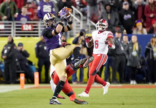 Washington defensive back Byron Murphy, left, may elect to enter the NFL draft this spring. If he returns, he would be the only starter back in the Huskies secondary.