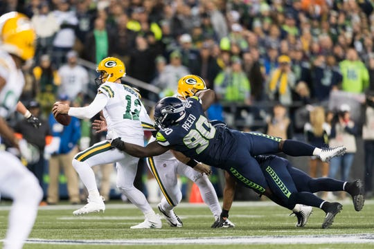 Jarran Reed had 10 1/2 sacks for the Seahawks, an unusually  high total for a defensive tackle.