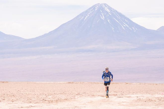 Greg Nance runs in the Atacama Crossing, a 155-mile ultramarathon in Chile, in October.