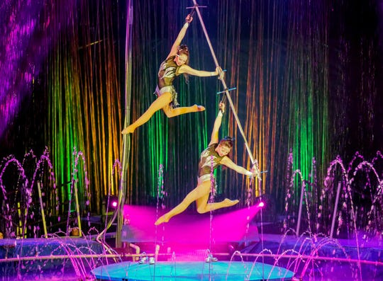 The Cirque Italia traveling water circus is this weekend in the First Data Field in Port St. Lucie.